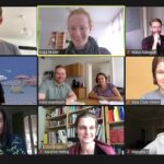 Screenshot of the Zoom conference with Lucy Parry and Hans Asenbaum
